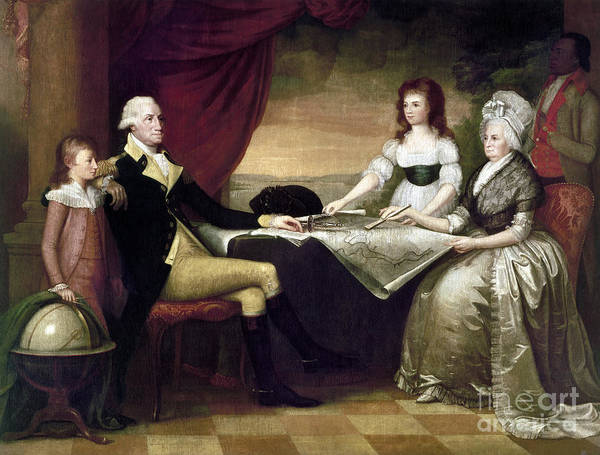 1796 Art Print featuring the photograph The Washington Family by Granger