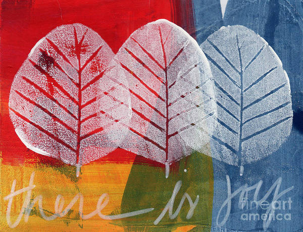 Abstract Art Print featuring the painting There Is Joy by Linda Woods
