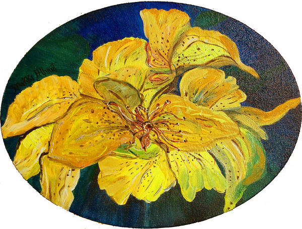 Tiger Lily Art Print featuring the painting Tiger Lily by Mikki Alhart