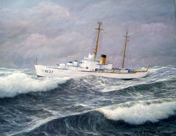 Ships Art Print featuring the painting U. S. Coast Guard Cutter Taney by William H RaVell III