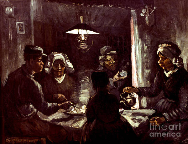 1885 Art Print featuring the photograph Van Gogh: Meal, 1885 by Granger