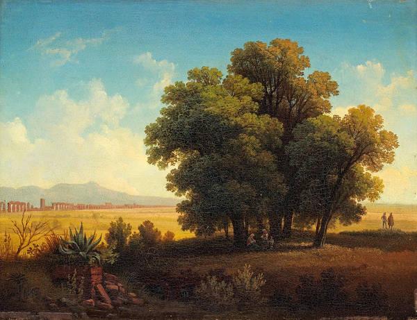 Gustaf Wilhelm Palm Art Print featuring the painting Vue Af Romerska Campagnan by Gustaf Wilhelm Palm