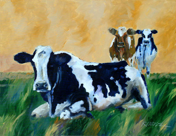 Animals Art Print featuring the painting Waiting by Ron Patterson