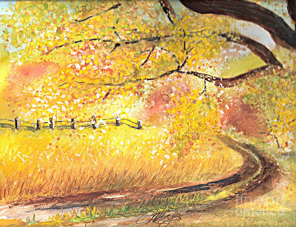 Landscape Art Print featuring the painting Walk About by Vivian Mosley