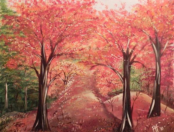 Autumn Art Print featuring the painting Wander by Patti Spires Hamilton