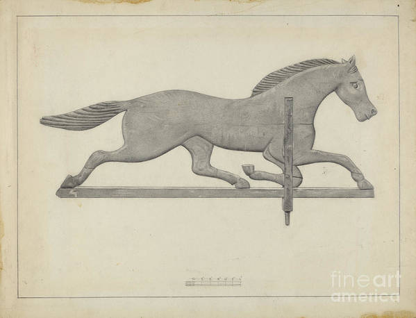 Art Print featuring the drawing Weather Vane by Joseph Stonefield