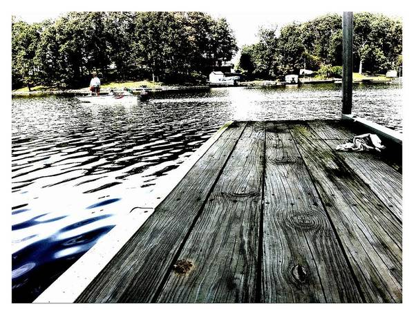 Lake Art Print featuring the photograph What A Way To Live by John McGarity