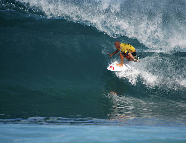 Kelly Slater Art Print featuring the photograph World Champion In Action by Kevin Smith