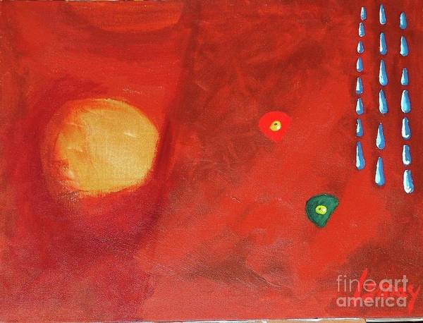 Orb Art Print featuring the painting Worms Of Christmas Washed Away by Rod Ismay