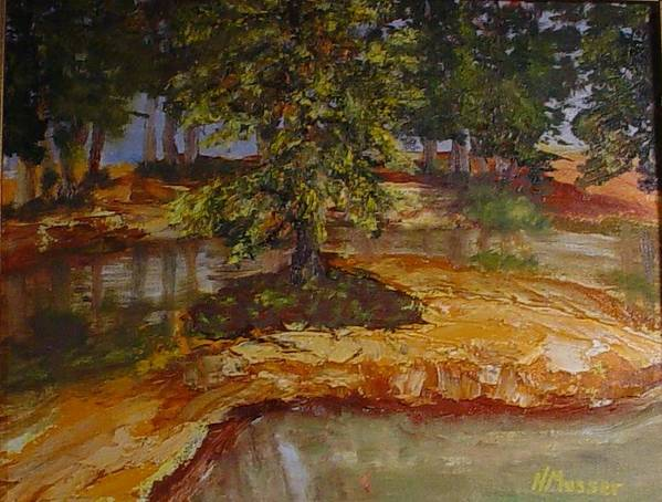 Landscape Art Print featuring the painting Wylie's Island by Helen Musser