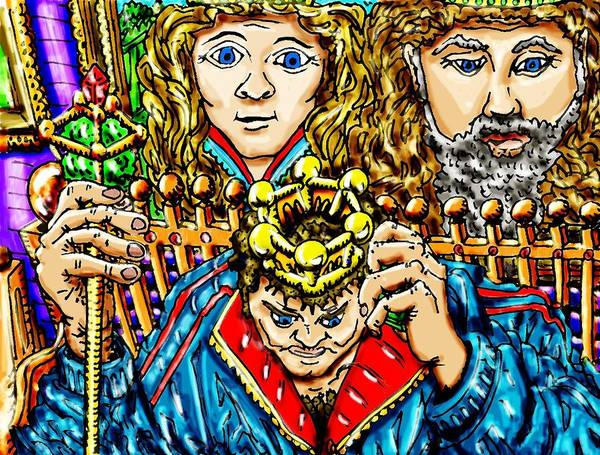 King Art Print featuring the mixed media Young Kings Decision by Gregg Dutcher