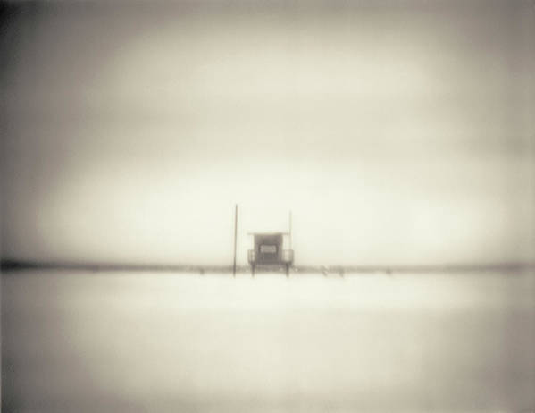 California Art Print featuring the photograph Lifeguard Hut On Santa Monica Beach by Alan Horsager