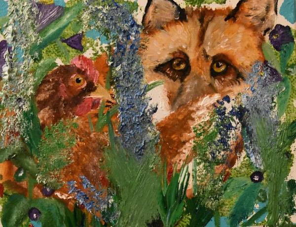 Fox Art Print featuring the painting Marco Polo by Susan Voidets