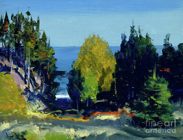 Blue Art Print featuring the painting The Grove Monhegan, 1911 by George Wesley Bellows