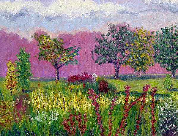 Landscape Art Print featuring the painting Sewp 9 24 by Stan Hamilton