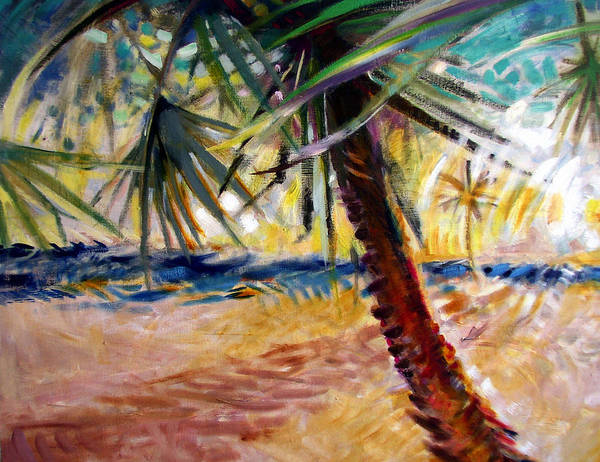 Landscape Art Print featuring the painting Desert Seashore by Patrick McClintock