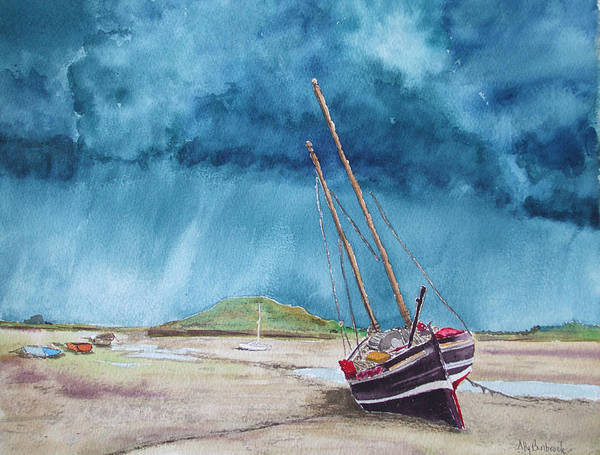 Ship Art Print featuring the painting Rainmaker by Ally Benbrook