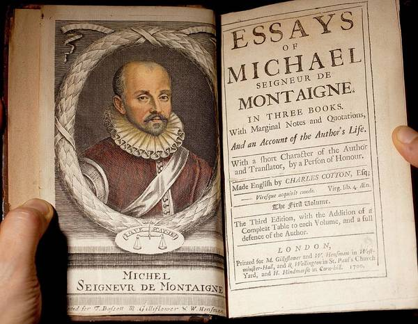 1700 michel de montaigne essays portrait art print by paul d stewart
