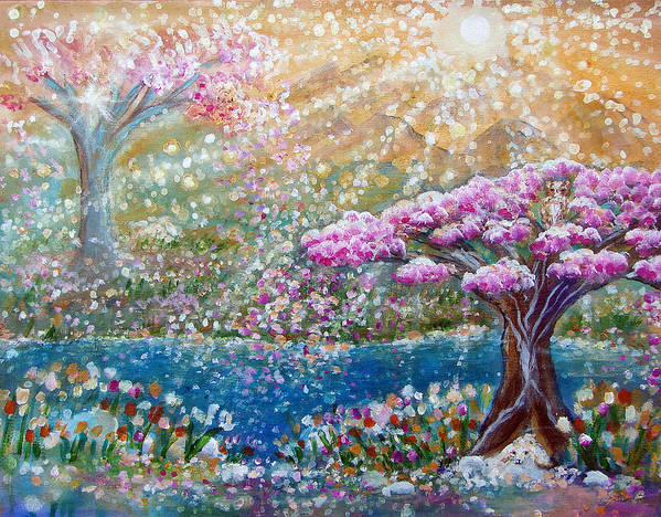 Spring Art Print featuring the painting Light Of Spring by Ashleigh Dyan Bayer