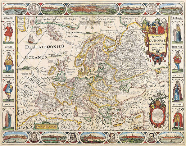 Map Of Europe Art Print By The Map House Of London