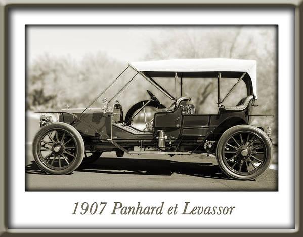 1907 Panhard Et Levassor Art Print featuring the photograph 1907 Panhard Et Levassor by Jill Reger