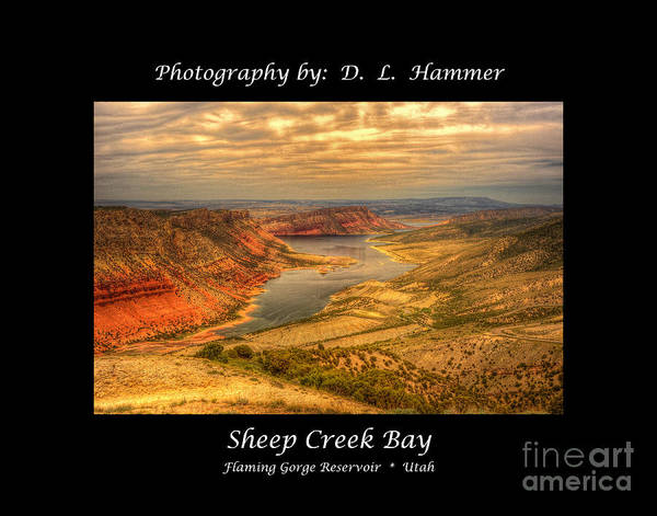 Flaming Gorge Art Print featuring the photograph Sheep Creek Bay by Dennis Hammer