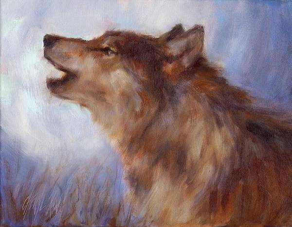 Art Print featuring the painting Wolf Whistle by Cheryl King