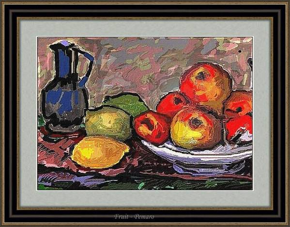Modern Painting Art Print featuring the painting Fruit by Pemaro