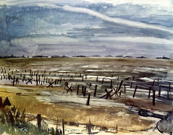 1944 Art Print featuring the photograph World War II: Normandy by Granger