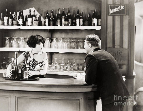 1920s Art Print featuring the photograph Silent Film Still: Drinking by Granger