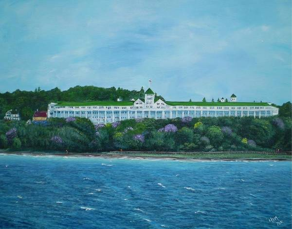 Grand Hotel Art Print featuring the painting A Grand Expanse by Yvonne Della-Moretta