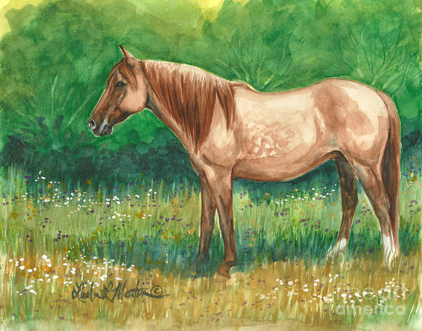 Art Print featuring the painting A Quiet Place by Linda L Martin