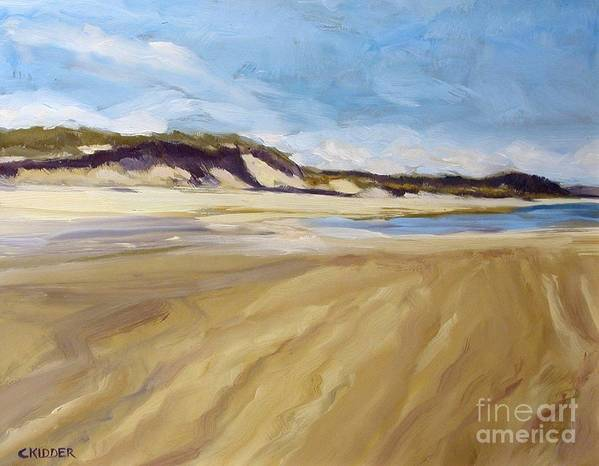 Landscape Art Print featuring the painting A Walk On The Beach by Colleen Kidder