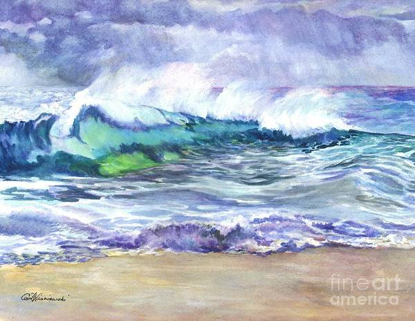 Sea Art Print featuring the painting An Ode To The Sea by Carol Wisniewski