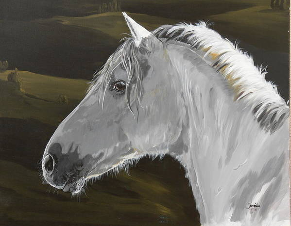 Horse Original Painting Art Print featuring the painting Andalusian Foal by Janina Suuronen