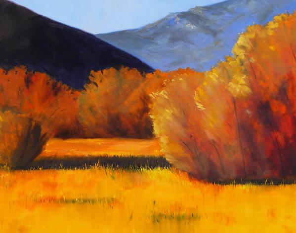 Autumn Art Print featuring the painting Autumn Field by Nancy Merkle