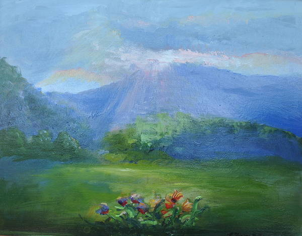 Breakthrough Art Print featuring the painting Breakthrough Light by Patricia Kimsey Bollinger
