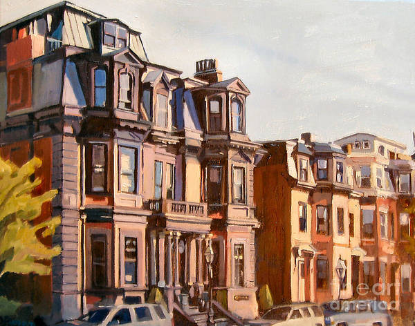 Southie Art Print featuring the painting Broadway View by Deb Putnam