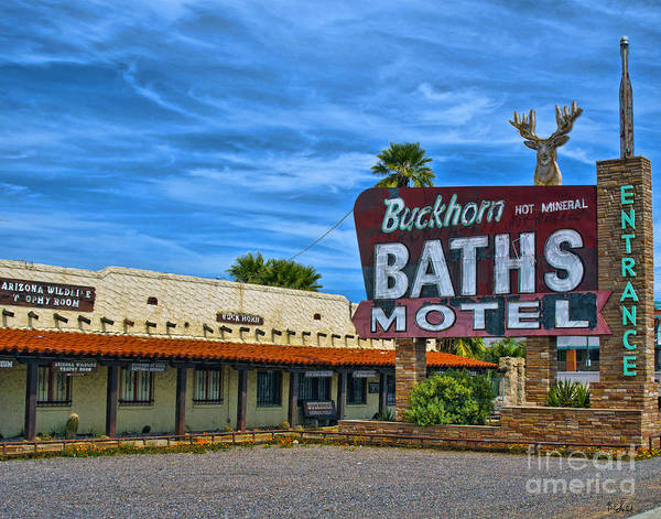 Arizona Art Print featuring the photograph Buckhorn Baths Motel by Brian Lambert