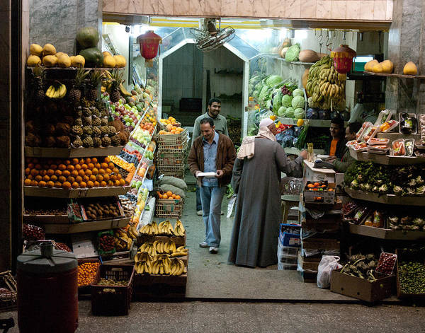 Cairo Art Print featuring the photograph Cairo Market by Lois Johnson
