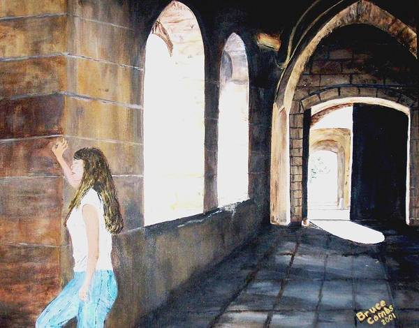Cloisters Art Print featuring the painting Cloisters by Bruce Combs - REACH BEYOND