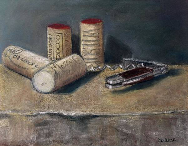 Still Life Art Print featuring the painting Corks Number 5 by Ellen Minter
