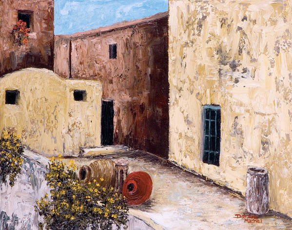 Courtyard Art Print featuring the painting Courtyard by Darice Machel McGuire