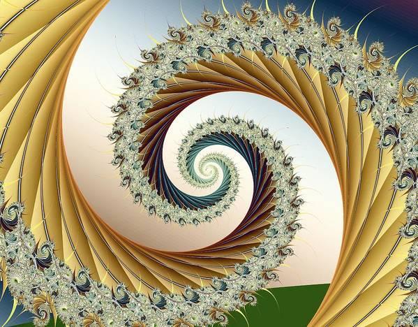 Fractal Art Print featuring the digital art Curl #8 by Kenneth Keller