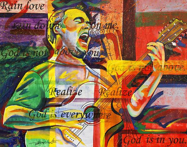 Dave Matthews Art Print featuring the painting Dave Matthews-bartender by Joshua Morton