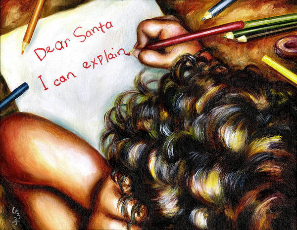 Child Art Print featuring the painting Dear Santa by Hiroko Sakai