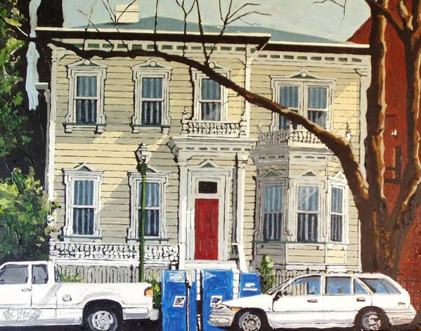 Sacramento Art Print featuring the painting Eleventh Between I And J by Paul Guyer