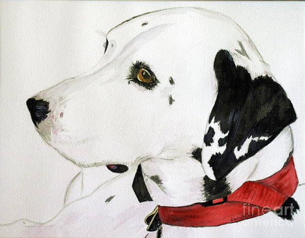 Animal.wildlife Art Print featuring the painting Firedog by John W Walker