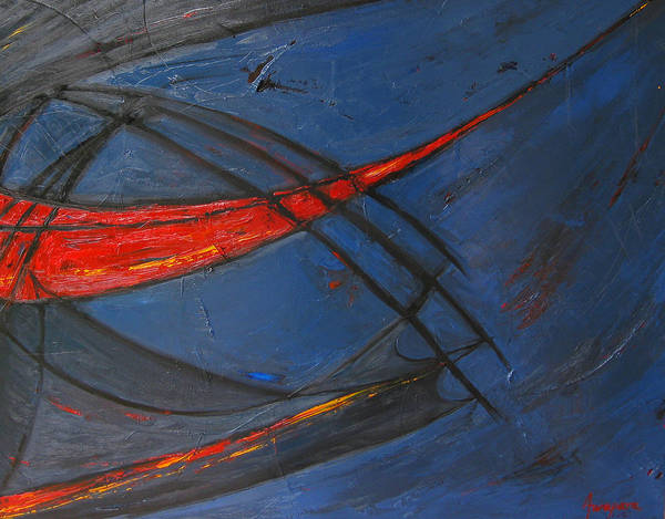 Red Art Print featuring the painting Forward by Patricia Awapara