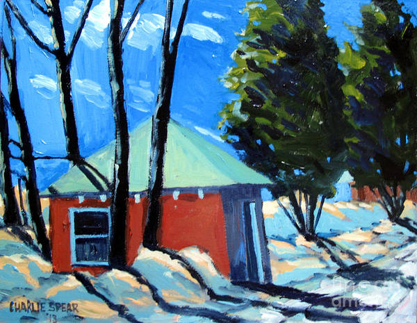 Golf Course Art Print featuring the painting Golf Course Shed Series No.4 by Charlie Spear